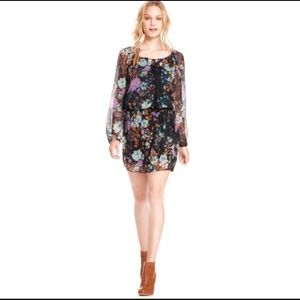 Jessica Simpson Laurelle floral semi sheer dress